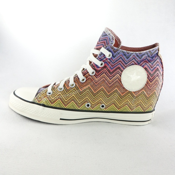 New CONVERSE Chuck Taylor Lux Missoni Wedge Shoes 041b88ad3